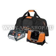 AEG L1840BL 18V 4,0Ah Akku + töltő + táska