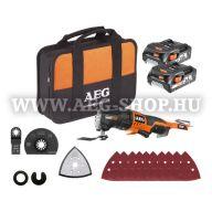 AEG OMNI 18CLI-202B SZETT1 18 V multifunkciós gép